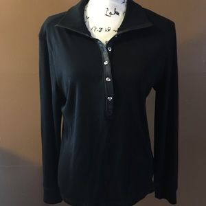 PREOWNED CHAPS SIZE LARGE BLACK TOP